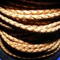 Fonott bőrszíj - 2,5 mm (7. minta/0,5 m) - világosbarna, Vegyes alapanyag, Egyéb alapanyag, Bőrművesség,  Fonott bőrszíj (7. minta) - világosbarnaValódi bőr alapanyagból készült fonott, hengeres szíj.Átmé..., Alkotók boltja