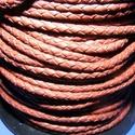 Fonott bőrszíj - 2,5 mm (9. minta/0,5 m) - saddle barna, Vegyes alapanyag, Egyéb alapanyag, Bőrművesség,  Fonott bőrszíj (9. minta) - saddle barnaValódi bőr alapanyagból készült fonott, hengeres szíj.Átmé..., Alkotók boltja