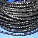 Fonott bőrszíj - 5 mm (3. minta/0,5 m) - fekete, Vegyes alapanyag, Egyéb alapanyag, Bőrművesség,  Fonott bőrszíj (3. minta) - feketeValódi bőr alapanyagból készült fonott, hengeres szíj.Átmérője: ..., Alkotók boltja