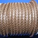 Fonott bőrszíj - 6 mm (1. minta/0,5 m) - sötétbarna, Vegyes alapanyag, Egyéb alapanyag, Bőrművesség,  Fonott bőrszíj (1. minta) - sötétbarnaValódi bőr alapanyagból készült fonott hengeres szíj.Átmérőj..., Alkotók boltja