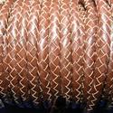 Fonott bőrszíj - 6 mm (2. minta/0,5 m) - barna, Vegyes alapanyag, Egyéb alapanyag, Bőrművesség,  Fonott bőrszíj (2. minta) - barnaValódi bőr alapanyagból készült fonott hengeres szíj.Átmérője: 5 ..., Alkotók boltja