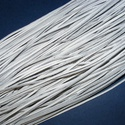Bőrszíj - 2x1 mm (111. minta/1 db) - fehér, Vegyes alapanyag, Egyéb alapanyag,  Bőrszíj (111. minta) - fehérValódi, puha hasított marhabőrből készült.Nyaklánc alapokhoz ..., Alkotók boltja