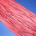 Bőrszíj - 3x1 mm (91. minta/1 db) - piros , Vegyes alapanyag, Egyéb alapanyag,  Bőrszíj (91. minta) - pirosValódi, puha hasított marhabőrből készült.Nyaklánc alapokhoz é..., Alkotók boltja