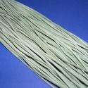 Bőrszíj - 3x1 mm (92. minta/1 db) - pasztellzöld , Vegyes alapanyag, Egyéb alapanyag,  Bőrszíj (92. minta) - pasztellzöldValódi, puha hasított marhabőrből készült.Nyaklánc alap..., Alkotók boltja