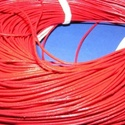 Hasított bőrszíj - 1 mm (6. minta/1 m) - vörös, Vegyes alapanyag, Egyéb alapanyag,  Hasított bőrszíj (6. minta) - tekercses - vörös  Mérete: 1 mm átmérőjűValódi hasított m..., Alkotók boltja