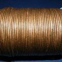 Hasított bőrszíj - 2 mm (14. minta/1 m) - bronz (metál), Vegyes alapanyag, Egyéb alapanyag, Bőrművesség,  Hasított bőrszíj (14. minta) - tekercses - bronz (metál)  Mérete: 2 mm átmérőjű Valódi hasított m..., Alkotók boltja