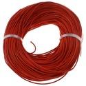 Hasított bőrszíj - 2 mm (3. minta/1 m) - piros, Vegyes alapanyag, Egyéb alapanyag,  Hasított bőrszíj (3. minta) - tekercses - piros  Mérete: 2 mm átmérőjű  Valódi hasított m..., Alkotók boltja