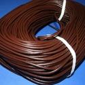 Hasított bőrszíj - 3 mm (4. minta/1 m) - kávébarna , Vegyes alapanyag, Egyéb alapanyag, Bőrművesség,  Hasított bőrszíj (4. minta) - tekercses - kávébarna  Mérete: 3 mm átmérőjű Valódi hasított marhab..., Alkotók boltja