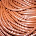 Hasított bőrszíj - 3 mm (5. minta/1 m) - csokoládé, Vegyes alapanyag, Egyéb alapanyag, Bőrművesség,  Hasított bőrszíj (5. minta) - tekercses - csokoládé  Mérete: 3 mm átmérőjű Valódi hasított marhab..., Alkotók boltja