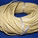 Hasított bőrszíj - 3 mm (6. minta/1 m) - sárga, Vegyes alapanyag, Egyéb alapanyag, Bőrművesség,  Hasított bőrszíj (6. minta) - tekercses - sárga  Mérete: 3 mm átmérőjű Valódi hasított marhabőrbő..., Alkotók boltja
