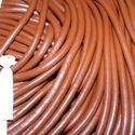 Hasított bőrszíj - 5 mm (10. minta/1 m) - csokoládé, Vegyes alapanyag, Egyéb alapanyag, Bőrművesség,  Hasított bőrszíj (10. minta) - tekercses - csokoládé  Mérete: 5 mm átmérőjű  Valódi hasított marha..., Alkotók boltja
