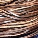Lapos bőrszíj - 3x2 mm (7. minta/1 m) - barna, Vegyes alapanyag, Egyéb alapanyag, Bőrművesség,  Lapos bőrszíj (7. minta) - tekercses - szögletes - barna  Mérete: 3x2 mm átmérőjű  Valódi hasított..., Alkotók boltja