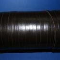 Lapos bőrszíj - 8x2 mm (13. minta/1 m) - feketésbarna, Vegyes alapanyag, Egyéb alapanyag, Bőrművesség,  Lapos bőrszíj (13. minta) - tekercses - lapos - feketésbarna   Mérete: 8x2 mm átmérőjűValódi hasít..., Alkotók boltja
