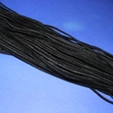 Bőrutánzat zsinór (ZS62/1 db) - fekete, Vegyes alapanyag, Egyéb alapanyag,  Bőrutánzat zsinór (ZS62) - fekete  Mérete: 3x1 mm/1 m Nyakbavaló alapnak, fonási technikákhoz aján..., Alkotók boltja