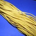 Bőrutánzat zsinór (ZS64/A/1 db) - sárga, Vegyes alapanyag, Egyéb alapanyag, Bőrművesség,  Bőrutánzat zsinór (ZS64/A) - sárga  Mérete: 3x1 mm/80 cm Nyakbavaló alapnak, fonási technikákhoz ..., Alkotók boltja