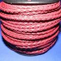 Fonott bőrszíj - 4 mm (1. minta - MŰBŐR/1 m) - bordó, Vegyes alapanyag, Egyéb alapanyag, Bőrművesség,  Fonott bőrszíj (1. minta) - bordó - műbőr  Műbőr alapanyagból készült fonott hengeres szíj. Átmér..., Alkotók boltja