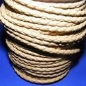 Fonott bőrszíj - 4 mm (2. minta - MŰBŐR/1 m) - világosbarna, Vegyes alapanyag, Egyéb alapanyag, Bőrművesség,  Fonott bőrszíj (2. minta) - műbőr - világosbarna  Műbőr alapanyagból készült fonott, hengeres szíj..., Alkotók boltja