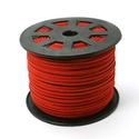 Szarvasbőr utánzat-7 (3x1,5 mm/1 m) - piros, Vegyes alapanyag, Egyéb alapanyag,  Szarvasbőr utánzat-7 - piros  Mérete: 3x1,5 mm  Nyakbavaló alapnak, fonási technikákhoz aján..., Alkotók boltja