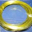 Alumínium drót-16 (1 mm/~ 10 m) - sárgászöld, Gyöngy, ékszerkellék, Drót, Ékszerkészítés, Fűzőszál,  Alumínium drót-16 - sárgászöldVastagsága: ? 1 mmHossza: ~ 10 mAz ár 1 csomagra vonatkozik.  , Alkotók boltja