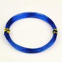 Alumínium drót-9 (1 mm/~ 10 m) - kék, Gyöngy, ékszerkellék, Drót, Ékszerkészítés, Fűzőszál,  Alumínium drót-9 - kékVastagsága: ? 1 mmHossza: ~ 10 mAz ár 1 csomagra vonatkozik.  , Alkotók boltja