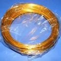 Alumínium drót-17 (2 mm/~ 10 m) - aranysárga, Gyöngy, ékszerkellék, Drót, Ékszerkészítés, Fűzőszál,  Alumínium drót-17 - aranysárgaVastagsága: ? 2 mmHossza: 10 mAz ár 1 csomagra vonatkozik.  , Alkotók boltja
