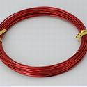 Alumínium drót-23 (2 mm/~ 6 m) - piros, Gyöngy, ékszerkellék, Drót, Ékszerkészítés, Fűzőszál,  Alumínium drót-23 - pirosVastagsága: ? 2 mmHossza: 6 mAz ár 1 csomagra vonatkozik.  , Alkotók boltja