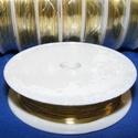Ékszerdrót (? 0,2 mm/1 db) - arany színű, Gyöngy, ékszerkellék, Drót, Ékszerkészítés, Fűzőszál,  Ékszerdrót - arany színű  Kiváló minőségű, fűzésre alkalmas ékszerdrót  Méret: ? 0,2 mmA tekercsen..., Alkotók boltja