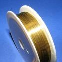 Ékszerdrót (? 0,3 mm/1 db) - arany színű, Gyöngy, ékszerkellék, Drót, Ékszerkészítés, Fűzőszál,  Ékszerdrót - arany színűKiváló minőségű, fűzésre alkalmas ékszerdrót.Méret: ? 0,3 mmA tekercsen kb..., Alkotók boltja