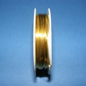 Ékszerdrót (? 0,5 mm/1 db) - arany színű, Gyöngy, ékszerkellék, Drót, Ékszerkészítés, Fűzőszál, Ékszerdrót - arany színűKiváló minőségű, fűzésre alkalmas ékszerdrót.Méret: ? 0,5 mmA tekercsen kb...., Alkotók boltja