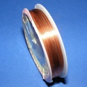 Ékszerdrót (? 0,6 mm/1 db) - réz színű, Gyöngy, ékszerkellék, Drót, Ékszerkészítés, Fűzőszál,  Ékszerdrót - réz színűKiváló minőségű, fűzésre alkalmas ékszerdrót.Méret: ? 0,6 mmA tekercsen kb. ..., Alkotók boltja