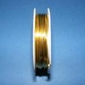 Ékszerdrót (? 1 mm/1 db) - arany színű, Gyöngy, ékszerkellék, Drót, Ékszerkészítés, Fűzőszál,  Ékszerdrót - arany színűKiváló minőségű, fűzésre alkalmas ékszerdrót.Méret: ? 1 mmA tekercsen kb. ..., Alkotók boltja
