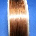 Ékszerdrót (? 1 mm/1 db) - réz színű, Gyöngy, ékszerkellék, Drót, Ékszerkészítés, Fűzőszál,  Ékszerdrót - réz színűKiváló minőségű, fűzésre alkalmas ékszerdrót.Méret: ? 1 mmA tekercsen kb. 2,..., Alkotók boltja