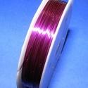 Gyöngyfűző drót (? 0,37 mm/1 db) - lila, Gyöngy, ékszerkellék, Drót, Ékszerkészítés, Fűzőszál,  Gyöngyfűző drót - lila színűKiváló minőségű, fűzésre alkalmas ékszerdrót.Méret: ? 0,37 mmA tekercs..., Alkotók boltja