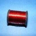 Gyöngyfűző drót - kicsi (? 0,3 mm/1 db) - piros, Gyöngy, ékszerkellék, Drót, Ékszerkészítés, Fűzőszál,  Gyöngyfűző drót - piros  Mérete: ? 0,3 mm Egy tekercsen kb. 10 m drót van.  Az ár 1 db tekercsre ..., Alkotók boltja
