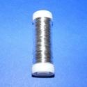 Gyöngyfűző drót - német (? 0,25 mm x 50 m/1 db) - ezüst színű, Gyöngy, ékszerkellék, Drót, Ékszerkészítés, Fűzőszál,  Gyöngyfűző drót - ezüst színű  Kiváló német minőségű, réz alapú, fűzésre alkalmas ékszerdrót.  Mér..., Alkotók boltja