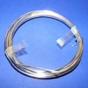 Gyöngyfűző drót - német (? 1,2 mm/1 db) - ezüst színű, Gyöngy, ékszerkellék, Drót, Ékszerkészítés, Fűzőszál,  Gyöngyfűző drót - ezüst színű  Kiváló német minőségű, réz alapú, fűzésre alkalmas ékszerdrót. Mére..., Alkotók boltja