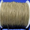 Golyós lánc - 3 mm (36. minta/1 m) - bronz , Gyöngy, ékszerkellék,  Golyós lánc (36. minta) - bronz színben  A szem mérete: 3 mm A feltüntetett ár 1 méter lán..., Alkotók boltja