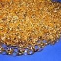 Arany színű lánc (45. minta/1 m) - 10x8x2 mm, Gyöngy, ékszerkellék,  Arany színű lánc (45. minta)  A szem mérete: 10x8x2 mm  A feltüntetett ár 1 méter láncra vo..., Alkotók boltja
