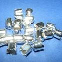Gyöngykupak (42. minta/4 db) - ezüst, Gyöngy, ékszerkellék, Egyéb alkatrész,  Gyöngykupak (42. minta) - ezüst színben  Mérete: 8x6 mm  Az ár 4 darab termékre vonatkozik  ..., Alkotók boltja