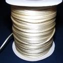 """Szatén zsinór - 2 mm (ZS33. minta/1 m) - krém, Gyöngy, ékszerkellék, Ékszerkészítés,  Szatén zsinór - más néven """"patkányfarok"""" (ZS33. minta) - krém  Kiválóan alkalmas fonási technikákh..., Alkotók boltja"""