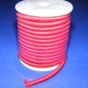 Üreges nylon zsinór - 5 mm (ZSR004-06/1 m) - piros, Gyöngy, ékszerkellék, Ékszerkészítés,  Üreges nylon zsinór (ZSR004-06) - piros  Ajánlott karkötők, nyakláncok készítéséhez, d..., Alkotók boltja
