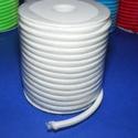 Üreges nylon zsinór - 5 mm (ZSR004-20/1 m) - fehér, Gyöngy, ékszerkellék,  Üreges nylon zsinór (ZSR004-20) - fehér  Ajánlott karkötők, nyakláncok készítéséhe..., Alkotók boltja