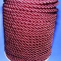 Sodrott zsinór - 5 mm (ZS52S/1 m) - bordó, Gyöngy, ékszerkellék,  Sodrott zsinór (ZS52S) - bordó  Színes nylon sodrott zsinórAjánlott karkötők, nyakláncok készítéséh..., Alkotók boltja