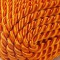 Sodrott zsinór - 5 mm (ZS7353/CS - 1 m) - narancssárga, Gyöngy, ékszerkellék,  Sodrott zsinór (ZS7353/CS) - narancssárga - Cseh minőség  Színes nylon sodrott zsinórAjánlott karkö..., Alkotók boltja