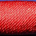 Sodrott zsinór - 5 mm (ZS90/1 m) - piros, Gyöngy, ékszerkellék, Ékszerkészítés,  Sodrott zsinór (ZS90) - piros  Színes nylon sodrott zsinórAjánlott karkötők, nyakláncok készítéséh..., Alkotók boltja
