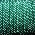 Sodrott zsinór - 6 mm (ZS74S/1 m) - zöld, Gyöngy, ékszerkellék,  Sodrott zsinór (ZS74S) - zöld  Színes nylon sodrott zsinórAjánlott karkötők, nyakláncok ké..., Alkotók boltja
