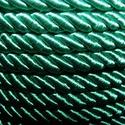 Sodrott zsinór - 6 mm (ZS74S/1 m) - zöld, Gyöngy, ékszerkellék, Alkotók boltja