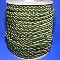 Sodrott zsinór - 8 mm (ZS78S/1 m) - zöld, Gyöngy, ékszerkellék,  Sodrott zsinór (ZS78S) - zöld  Színes nylon sodrott zsinórAjánlott karkötők, nyakláncok ké..., Alkotók boltja