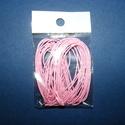 Viaszos szál-7 (5 db/csomag) - pink, Gyöngy, ékszerkellék, Ékszerkészítés,  Viaszos szál-7 (pink)  Színes, viaszos zsinór Mérete (1 db): 1 mm vastag/80 cm hosszú  Nyakbavaló..., Alkotók boltja