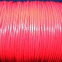 Viaszos zsinór - 2 mm (ZS35. minta/1 m) - piros, Gyöngy, ékszerkellék, Ékszerkészítés,  Viaszos zsinór (ZS35. minta) - piros  Nyakbavaló alap, karkötő alap alapanyaga. Fonáshoz, de bármi..., Alkotók boltja